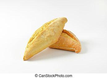 Plain crusty bread rolls