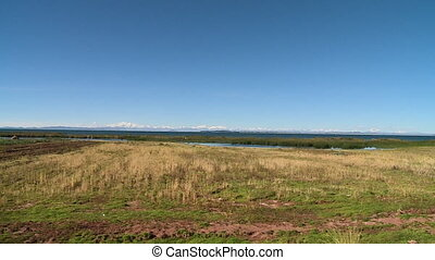 Plain Farmland Along Lake Titicaca, Bolivia - Wide...