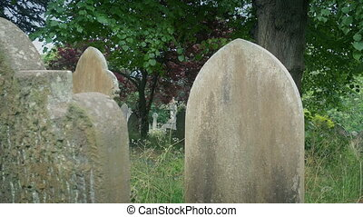 Very old gravestones in the cemetery