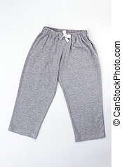 Plain gray pajama pants