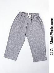 Plain gray pajama pants
