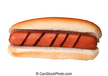 Plain Hot Dog with Grill Marks