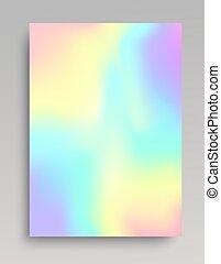 Plain iridescent gradient backdrop