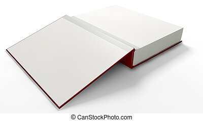Plain Open Book With Blank Pages