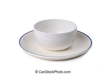 Plain Plate and bowl