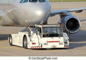 plain towing vehicle