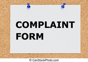 plainte, concept, formulaire