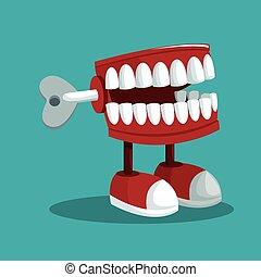 plaisanterie, fools, pratique, avril, dents, jour