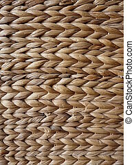 Plaited rattan texture on a chair which can be used as a background