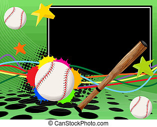 plakát, baseball