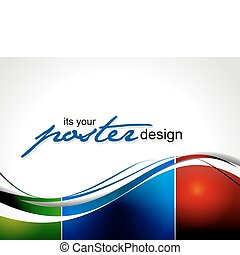 plakát, design