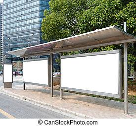 plakátovací tabule, bus stop