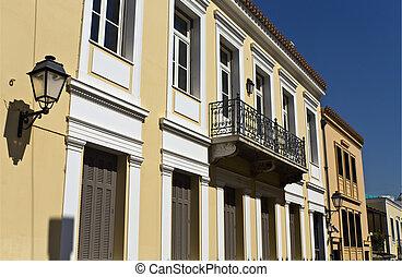 Plaka and Monastiraki historic area at Athens of Greece