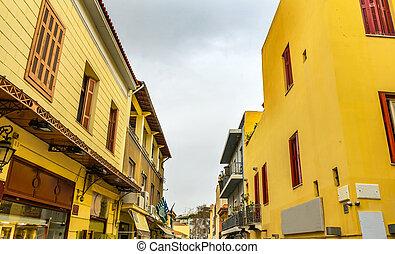 Plaka Old Neighborhoods Shopping Streets Athens Greece -...