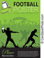 plakat, amerikansk fodbold