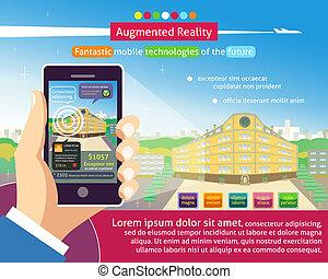 plakat, augmented, wirklichkeit