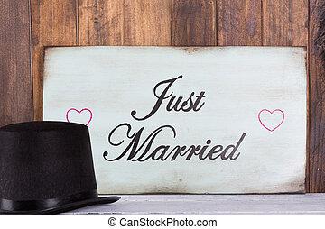 plakat, geheiratet