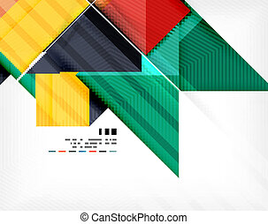 plakat, geometrisch, abstraktion, geschaeftswelt