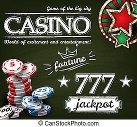 plakat, kasino, hintergrund