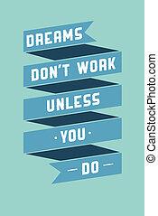plakat, motivational, kunst, phrasen