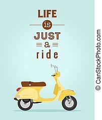 plakat, motorroller
