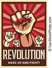 plakat, revolution, propaganda