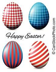 plakat vier, eier, design, ostern