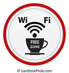 plakat, wifi, cybercafe, frei