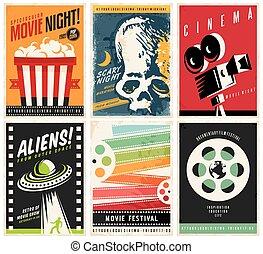 plakate, sammlung, kino