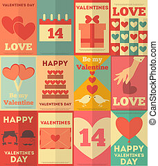 plakate, valentines, sammlung