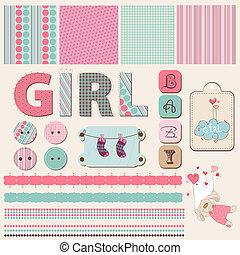 plakboek, baby meisje, set