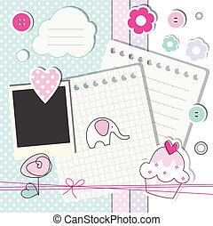 plakboek, communie, ontwerp