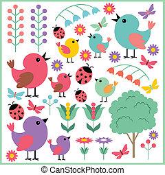 plakboek, vogels, communie