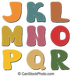 plakboek, witte , alfabet