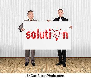 plakkaat, oplossing