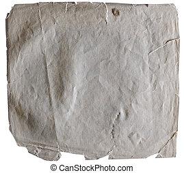 plamiony, stary, papier, z, szorstki, ostrza