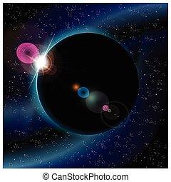 planète, éclipse