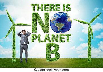 planète, écologique, non, -, là, concept, b