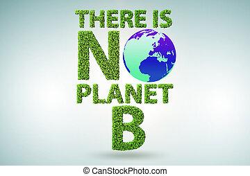 planète, écologique, non, -, là, concept, rendre, b, 3d