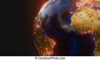 planète, éléments, -, ceci, la terre, meublé, nasa, image