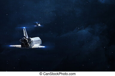 planète, éléments, image, résumé, stars., incandescent, nasa, fond, -, espace, meublé, scientifique, ceci, nébuleuse