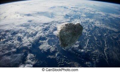 planète, approchant, dangereux, la terre, astéroïde