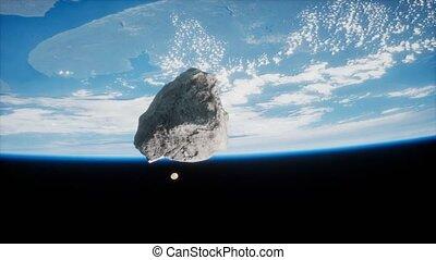 planète, astéroïde, dangereux, approchant, la terre