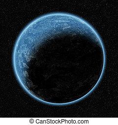 planète, beau, espace