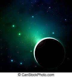 planète, black-out, espace