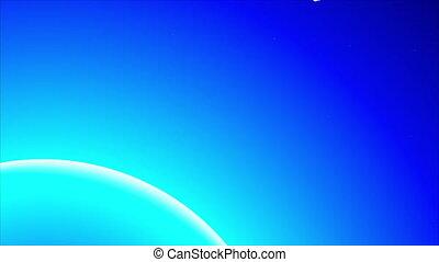planète bleue, comète, lumière
