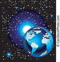 planète bleue, espace