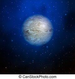 planète bleue, galaxy., espace