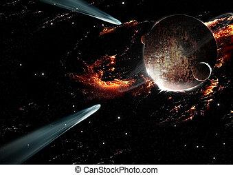 planète, comète