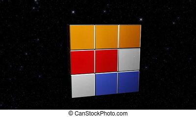 planète, cube